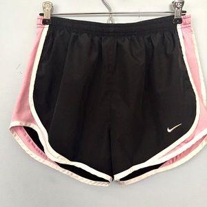 Nike Running Shorts Black Pink White Size Medium